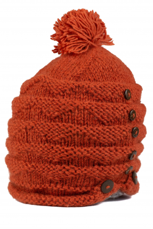 Caciula din lana - Caramiziu5