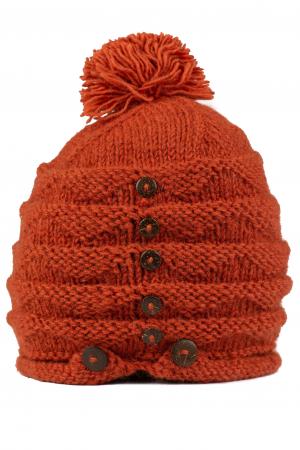 Caciula din lana - Caramiziu1
