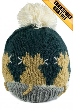 Caciula din lana copii Cats - Blue1