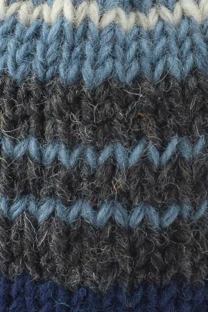 Caciula din lana cu ciucure - Blue Lines2