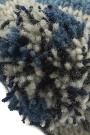Caciula din lana cu ciucure - Blue Lines3