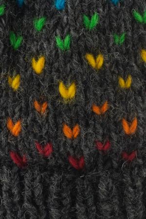 Caciula din lana cu ciucure - Rainbow Dots2