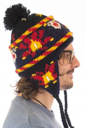 Caciula din lana cu urechi - Black3