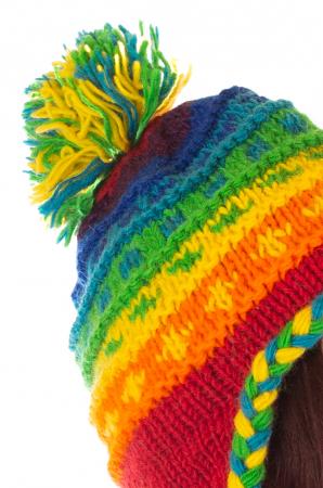 Caciula din lana copii - Rainbow3