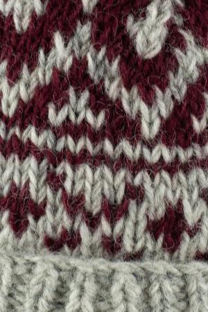 Caciula din lana - Grey and Burgundy5