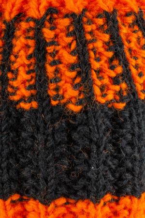 Caciula din lana - Orange and Black5