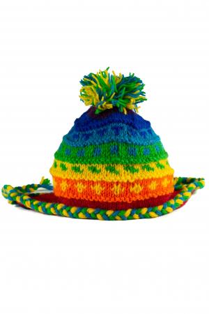 Caciula din lana copii - Rainbow1