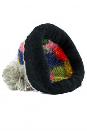 Caciula din lana - Rainbow patches5