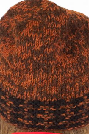 Caciula din lana - Black and Brown5