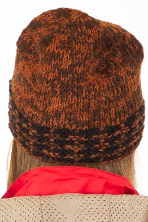 Caciula din lana - Black and Brown4