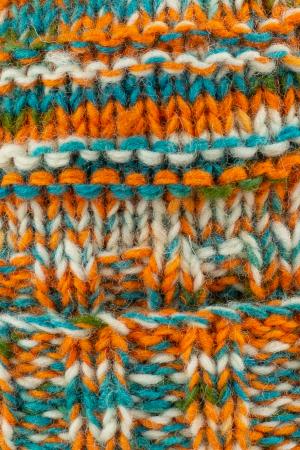 Caciula din lana Stripes - Orange and Blue3