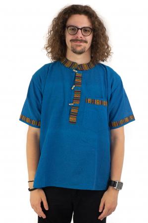 Camasa albastra cu maneca scurta - Motive etno [1]