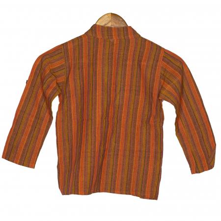 Camasa copii maneca lunga din bumbac portocalie - Hipopotam M11 [1]