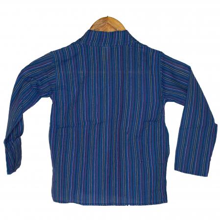 Camasa copii maneca lunga din bumbac albastra - Porcusor M121