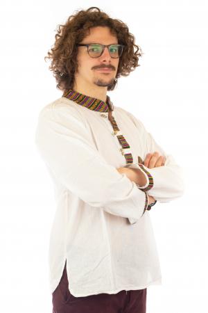 Camasa cu maneca lunga - Etno - Alb [2]
