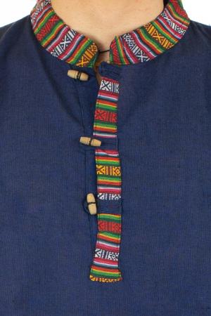 Camasa cu maneca lunga - Etno - Albastru Inchis [1]