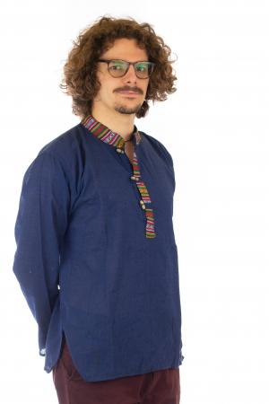 Camasa cu maneca lunga - Etno - Albastru Inchis [3]