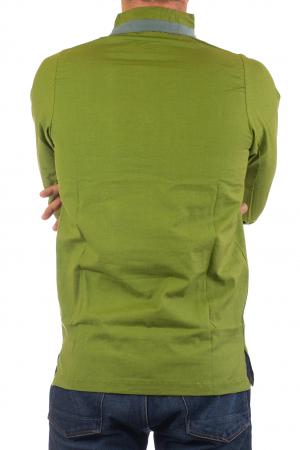 Camasa cu maneca lunga - Grey Collar - Verde8