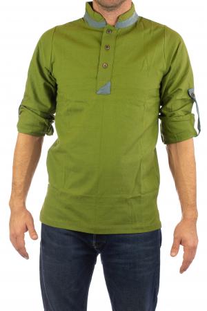 Camasa cu maneca lunga - Grey Collar - Verde [2]