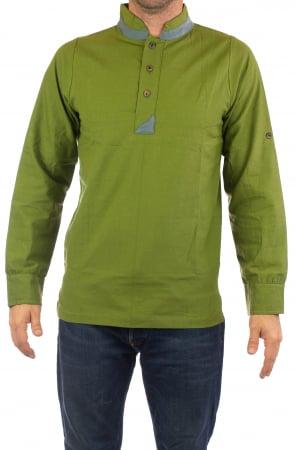 Camasa cu maneca lunga - Grey Collar - Verde [0]