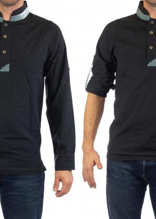 Camasa cu maneca lunga - Grey Collar - Negru [8]