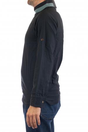 Camasa cu maneca lunga - Grey Collar - Negru [3]