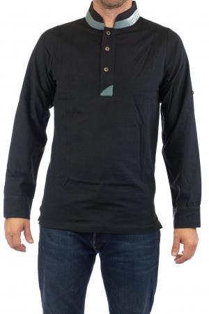 Camasa cu maneca lunga - Grey Collar - Negru [0]
