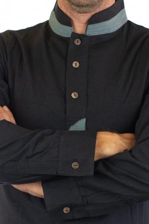 Camasa cu maneca lunga - Grey Collar - Negru [1]