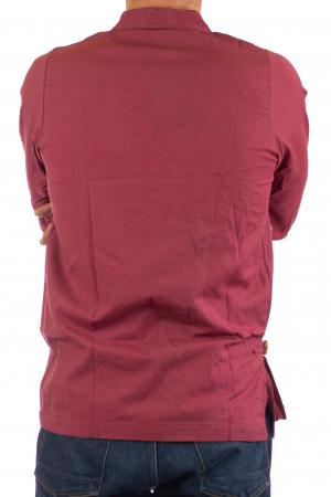 Camasa cu maneca lunga - Side Cut - Visiniu4