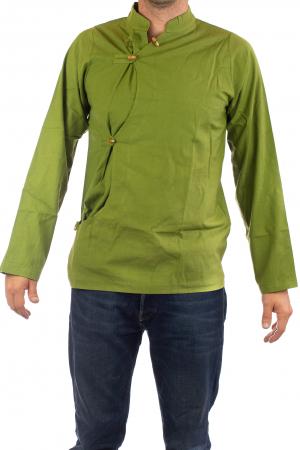 Camasa cu maneca lunga - Side Cut - Verde1