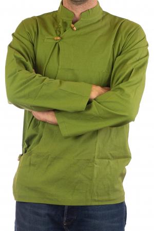 Camasa cu maneca lunga - Side Cut - Verde2