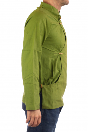 Camasa cu maneca lunga - Side Cut - Verde3