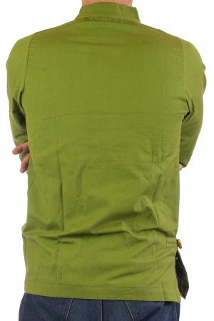 Camasa cu maneca lunga - Side Cut - Verde4