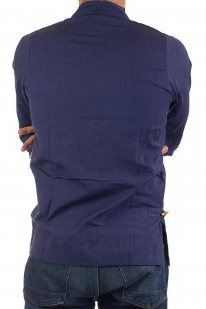 Camasa cu maneca lunga - Side Cut - Albastru Inchis [5]
