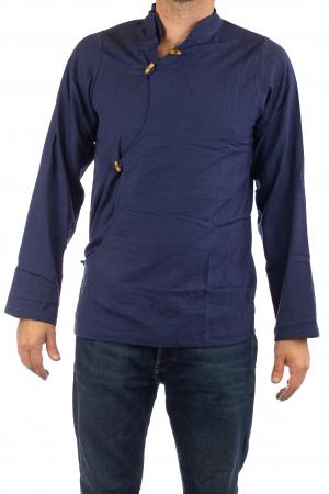 Camasa cu maneca lunga - Side Cut - Albastru Inchis [1]