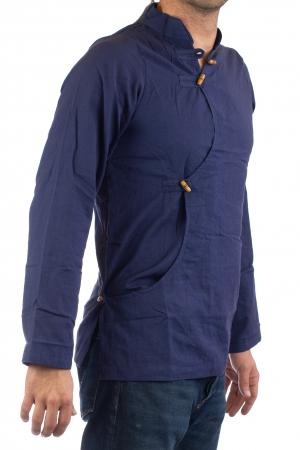 Camasa cu maneca lunga - Side Cut - Albastru Inchis [0]