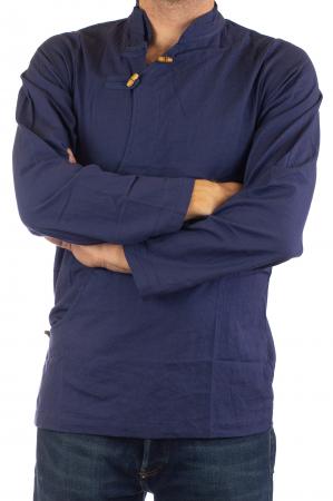 Camasa cu maneca lunga - Side Cut - Albastru Inchis [2]
