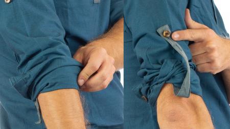 Camasa cu maneca lunga - Grey Collar - Turcoaz2