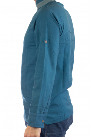 Camasa cu maneca lunga - Grey Collar - Turcoaz7