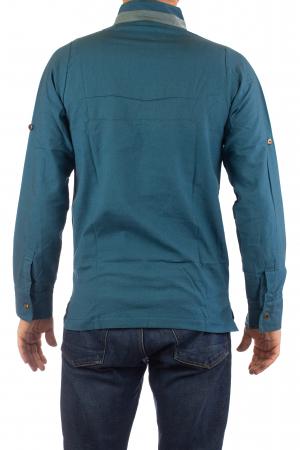 Camasa cu maneca lunga - Grey Collar - Turcoaz9