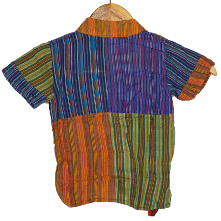 Camasa cu maneca scurta din bumbac unicat pentru copii- S - Bufnita M21