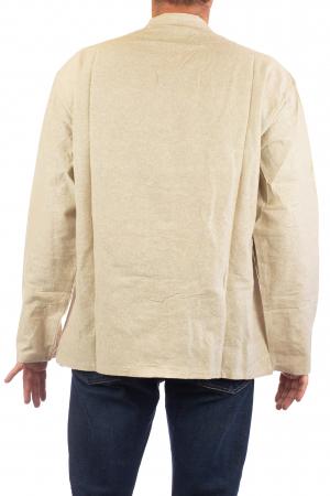 Camasa cu nod chinezesc - Chinese knot shirt - Crem [5]