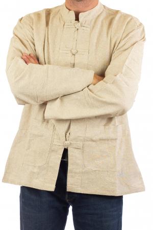 Camasa cu nod chinezesc - Chinese knot shirt - Crem [1]