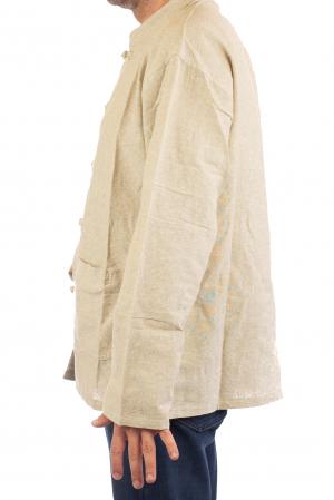 Camasa cu nod chinezesc - Chinese knot shirt - Crem [4]