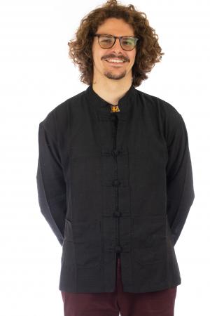 Camasa cu nod chinezesc - Chinese knot shirt - Negru - Model 2 [0]