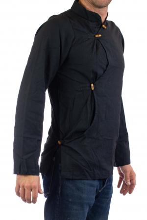 Camasa cu maneca lunga - Side Cut - Neagra [0]