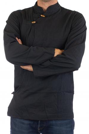 Camasa cu maneca lunga - Side Cut - Neagra [2]