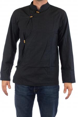 Camasa cu maneca lunga - Side Cut - Neagra [1]