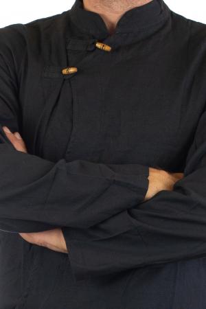 Camasa cu maneca lunga - Side Cut - Neagra [3]