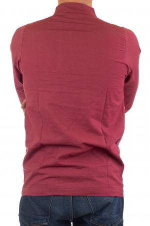 Camasa cu nod chinezesc - Chinese knot shirt - Visiniu4